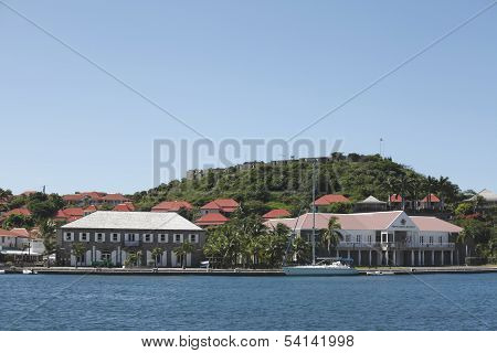Fort Oscar , Hotel de Ville and Wall House in Gustavia, St. Barts