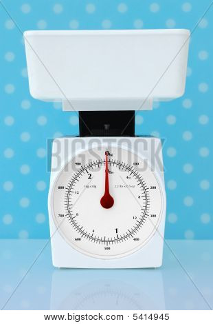 Kitchen Scales Weight Loss Diet Concept