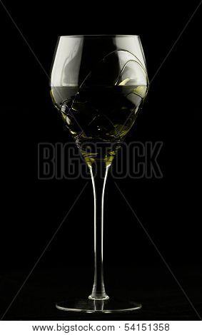 Wine Glass With Yellow Potion