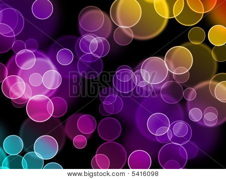 an abstract background with overlapping circles producing different colors and shapes poster