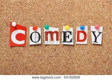 The word Comedy
