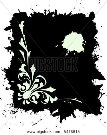 Grunge banner  in black color. Vector illustration