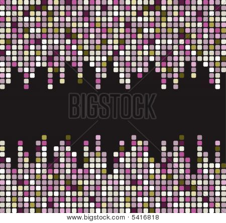 Stylish square banner. Vector illustration