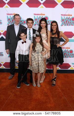 LOS ANGELES - NOV 17:  Chris Tallman, Diego Velazquez, Jack Griffo, Addison Riecke, Kira Kosarin, Rosa Blasi at the TeenNick Halo Awards at Hollywood Palladium on November 17, 2013 in Los Angeles, CA