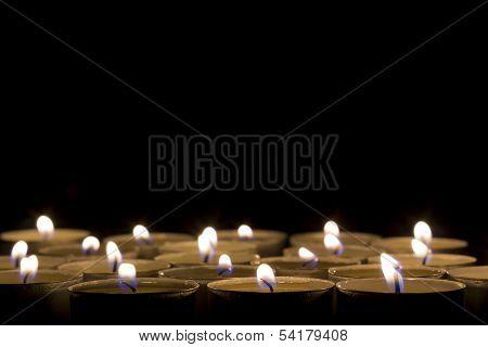 candels on balck background