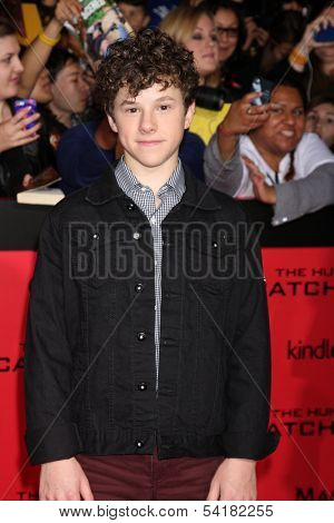 LOS ANGELES - NOV 18:  Nolan Gould at the The Hunger Games:  Catching Fire Premiere at Nokia Theater on November 18, 2013 in Los Angeles, CA