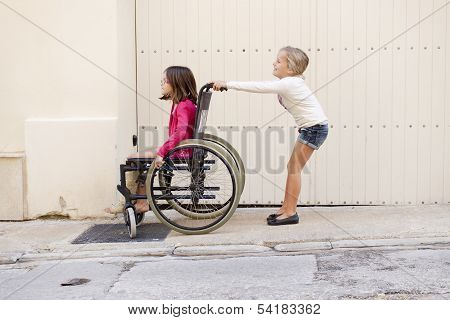 Kids With Wheelchair