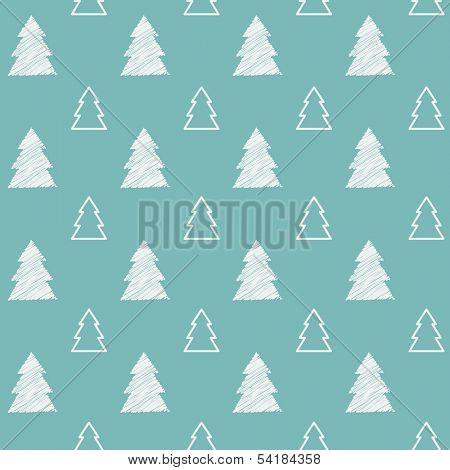 Seamless pattern. Christmas trees.