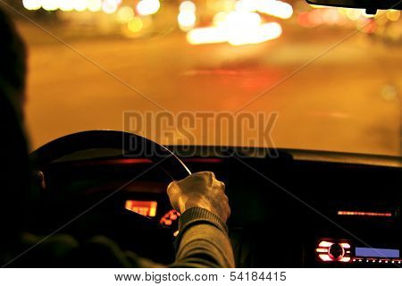 Hands of a driver