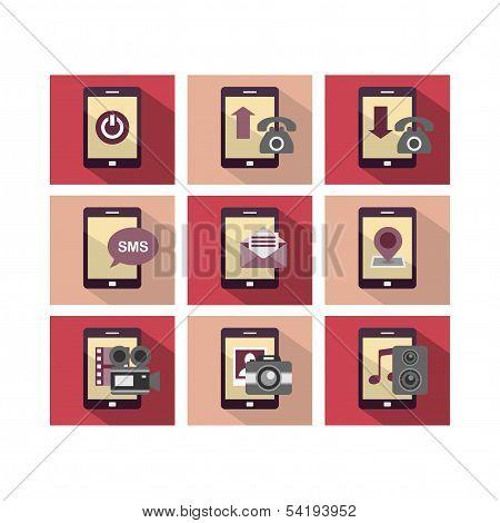Flat Icon Design Phone