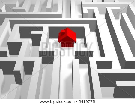 Red House In Labyrinth