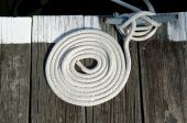 Nautical line on dock in the form of a concentric circle poster