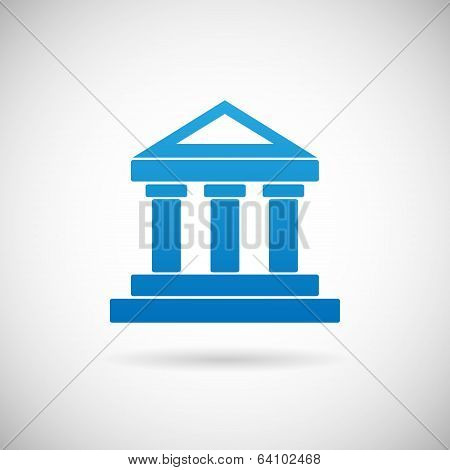 Law Court Bank House Symbol Justice Finance Icon Design Template Vector Illustration