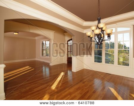 Model Luxury Home Interior Front Entrance Rooms