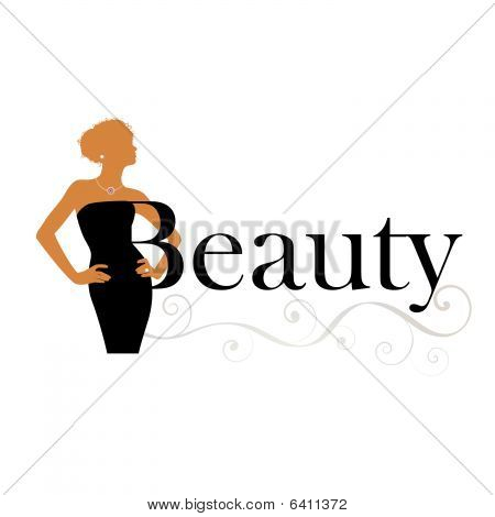 Beauty Concept Woman With Text