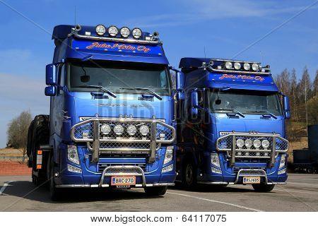 Two Volvo FH13 Trucks