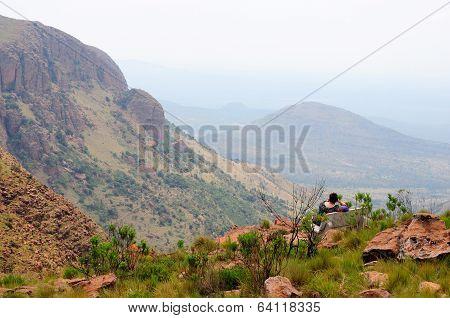 Viewpoint In The Waterberg In Marakele National Park