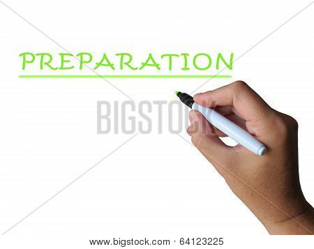 Preparation Word Means Readiness Preparedness And Foresight