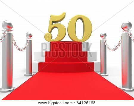 Golden Fifty On Red Carpet Shows Fiftieth Cinema Anniversary Or