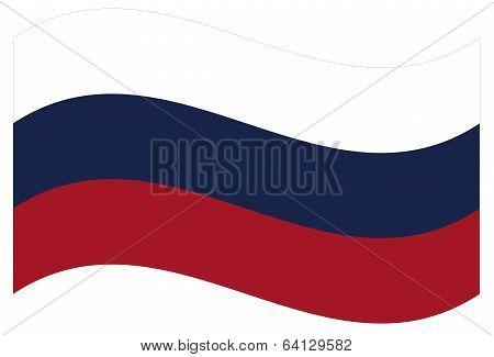 Vector flag. Russia