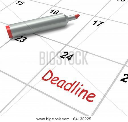 Deadline Calendar Shows Due Date And Cutoff