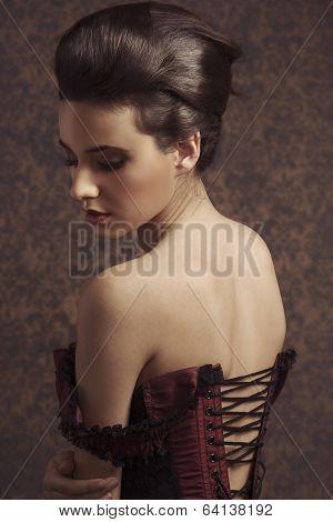 Close Up Portarit Vintage Pretty Woman