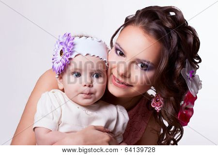 Daughter Conceived Something. 6 Months Baby With Mother