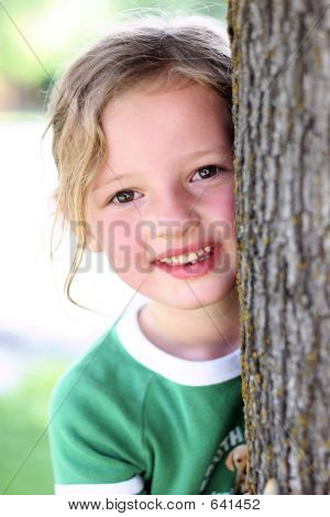 Girl By Tree