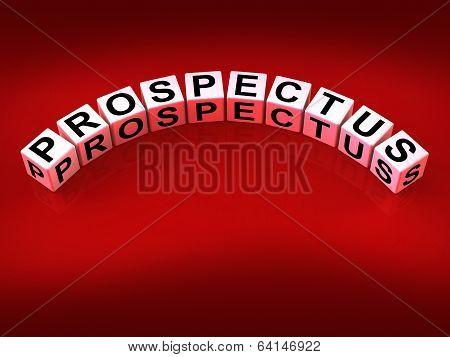 Prospectus Blocks Show Brochures That Advertise Inform And Descr