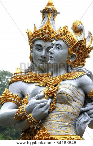 Couple Of Balinese Gods