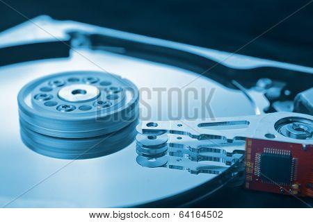 Coputer Hard Disk Close Up Detail
