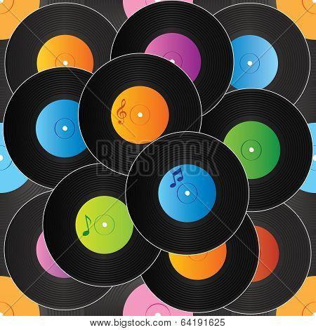 Seamless vinyl background vector