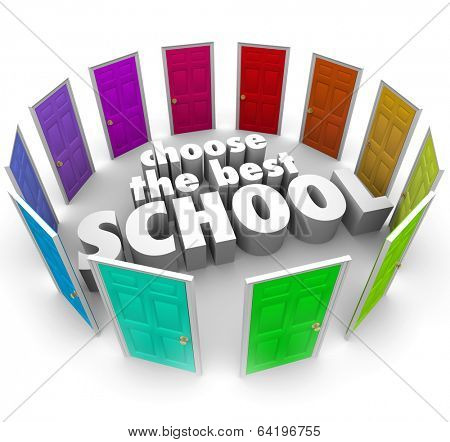 Choose the Best School Words Doors Top College University