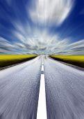 Highway/motion blur poster