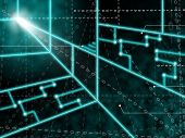 Laser Circuit Background Meaning Light Beams Or Shining Lasers poster