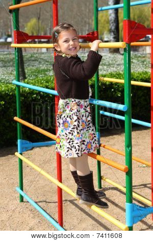 Girl in playground