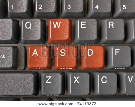 Keys WASD on keyboard