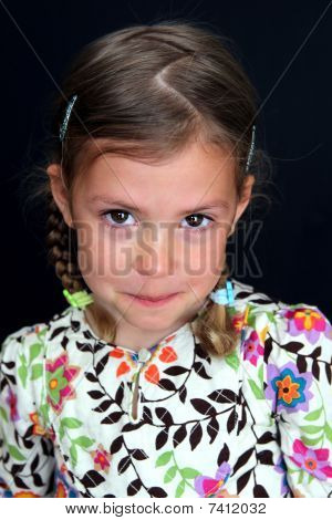 Tearful girl