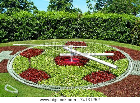 Famous Flowers clock in Geneva