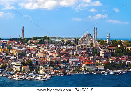 Istanbul view - Turkey travel architecture background