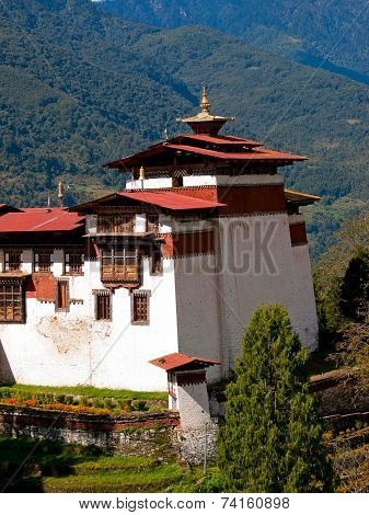 Detail Of The Trongsa Dzong Which Is The Largest Dzong In Bhutan
