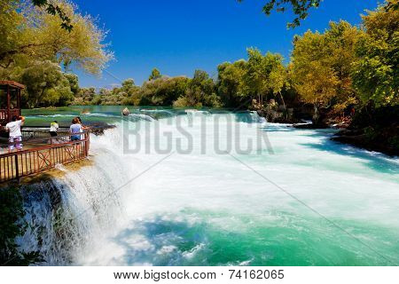 Waterfall Manavgat at Turkey - nature travel background