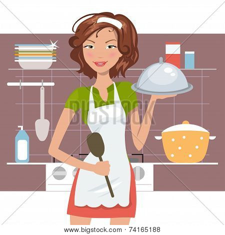 Beautiful Woman Chef