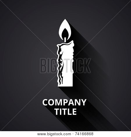 Modern candle logo