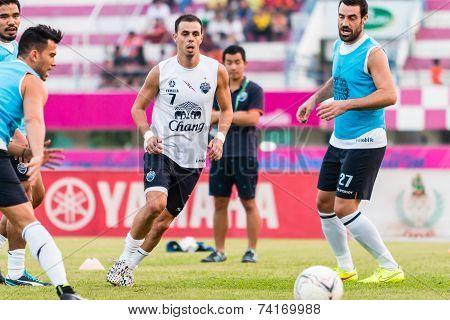 Sisaket Thailand-october 15: Carmelo Gonzalez Of Buriram Utd. In Action During A Training Ahead Thai