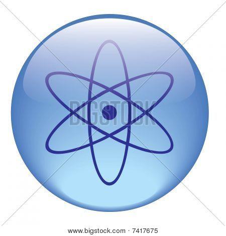 Radiation icon on a white background