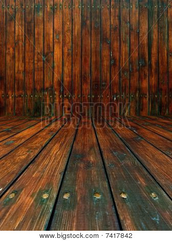 Shabby Wooden Room