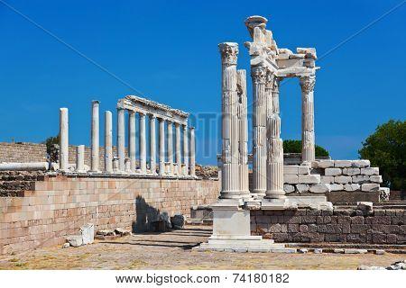 Temple of Trajan at Acropolis of Pergamon - Turkey