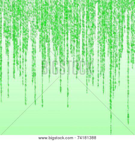Green random binary figures
