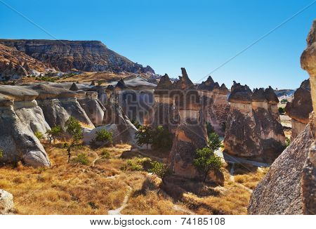 Rock formations in Cappadocia Turkey - nature background poster